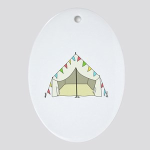 GLAMPING TENT Ornament (Oval)