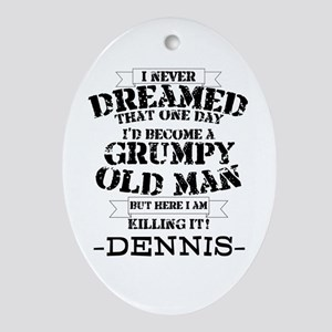 grumpy old man personalized Oval Ornament