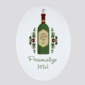 Customizable Birthday Ornament (Oval)
