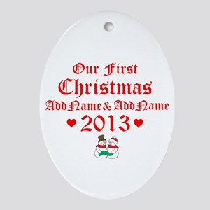 Our First Christmas 2014 Ornament (Oval)