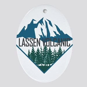 Lassen Volcanic - California Oval Ornament