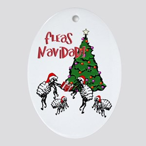 FLEAS NAVIDAD - Christmas Fleas and Oval Ornament