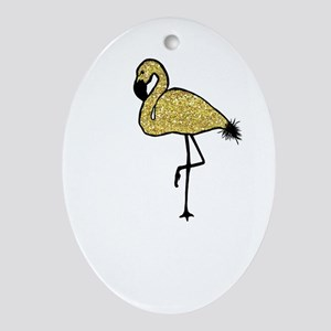 Flamingo Oval Ornament