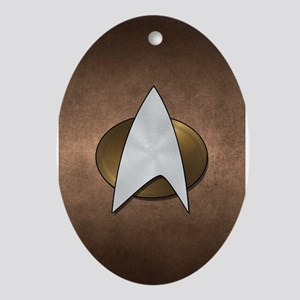 STARTREK TNG METAL 3 Oval Ornament