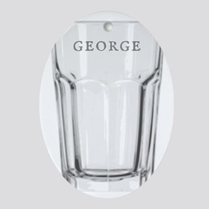 George Glass Oval Ornament