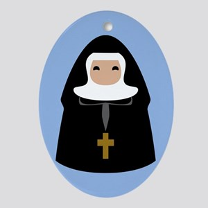 nuns-cute-1_13-5x18 Oval Ornament
