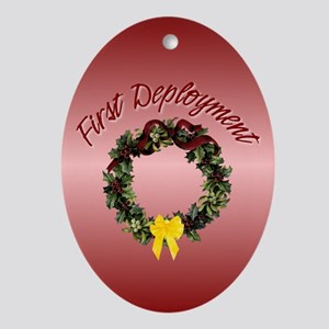 First Deployment Oval Ornament