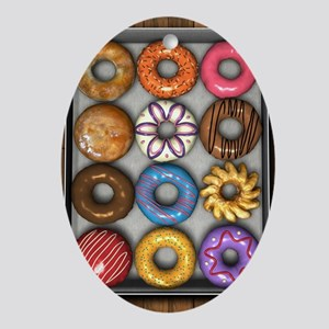 Box of Doughnuts Ornament (Oval)