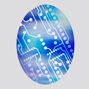 Printed circuit board - Oval Ornament