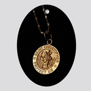 Saint Christopher Ornament (Oval)