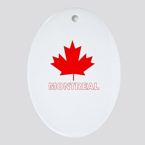 Montreal, Quebec Oval Ornament