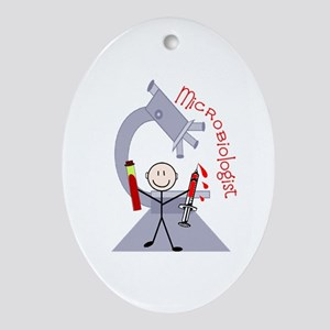 Microbiology/Lab Oval Ornament