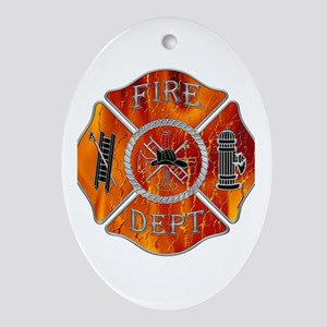 Fire Department Oval Ornament