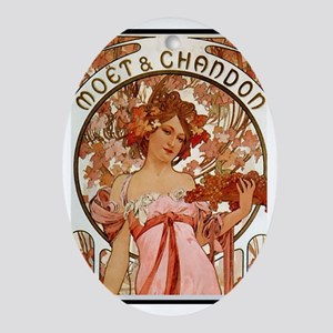 Alphonse Mucha Ornament (Oval)