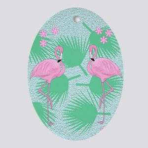 flamingos Oval Ornament