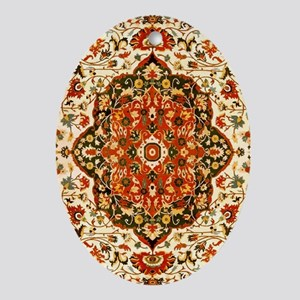 Antique Persian Sarouk Farahan Oval Ornament