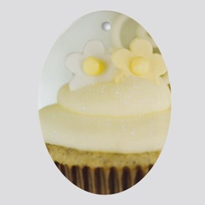 Lemon Cupcake Ornament (Oval)