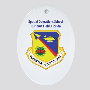 Special Operations School Oval Ornament