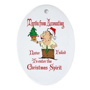 Christmas Accountant.Christmas Accountant Ornament Oval