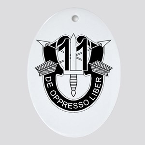 11th Special Forces - DUI - No Txt Ornament (Oval)