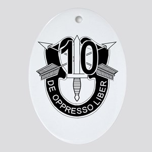 10th Special Forces - DUI - No Txt Ornament (Oval)