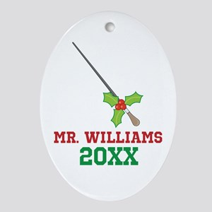 Personalized Music Conductor Christmas Ornament (O