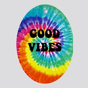 Good Vibes Oval Ornament