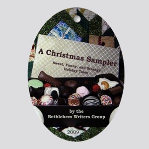 A Christmas Sampler Oval Ornament