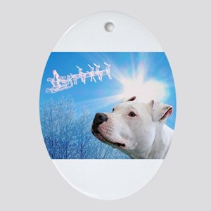 Pitbull Christmas Ornament.Pitbull Christmas Ornaments Cafepress