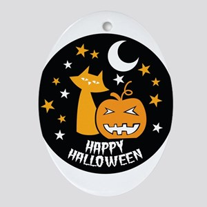 Happy Halloween Ornament (Oval)