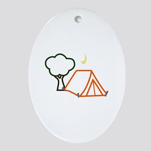 CAMPING APPLIQUE Ornament (Oval)