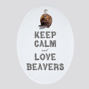 Wood Badge Beaver Ornament (Oval)