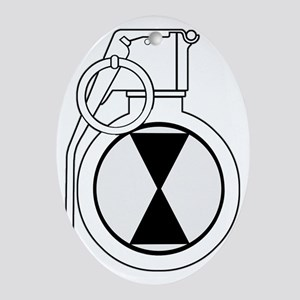 021_grenade Oval Ornament
