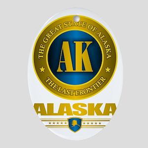 Alaska Oval Ornament