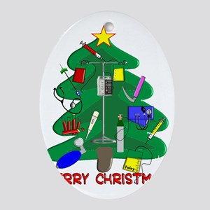 Merry Christmas Medical Oval Ornament