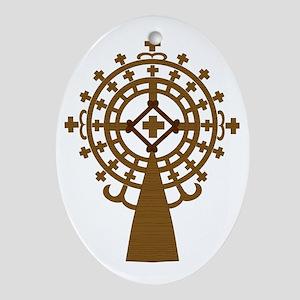 meskel_wood Oval Ornament
