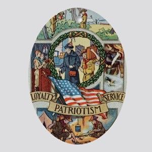 Loyalty Patriotism Service 1916 Oval Ornament
