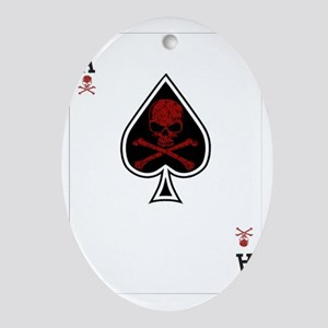 Aces Oval Ornament
