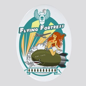 Flying Fortress Oval Ornament