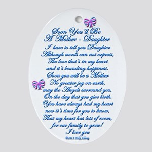 Daughter Expecting Baby Ornament (Oval)