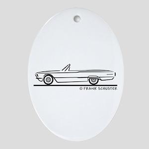 1966 Ford Thunderbird Convert Ornament (Oval)