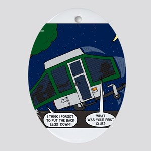 Pop-up Camper Problems Ornament (Oval)