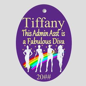 Admin Asst Diva Oval Ornament