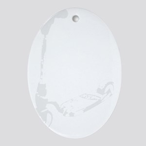 Scooter white Oval Ornament