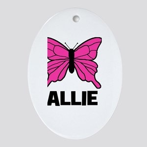Butterfly - Allie Oval Ornament