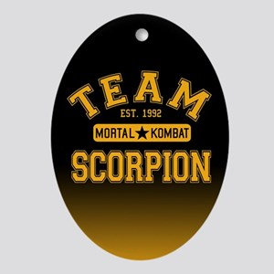 Team Scorpion Mortal Kombat Oval Ornament