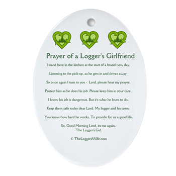 Prayer loggers girlfriend ornament oval prayer of a loggers prayer loggers girlfriend ornament oval altavistaventures Image collections