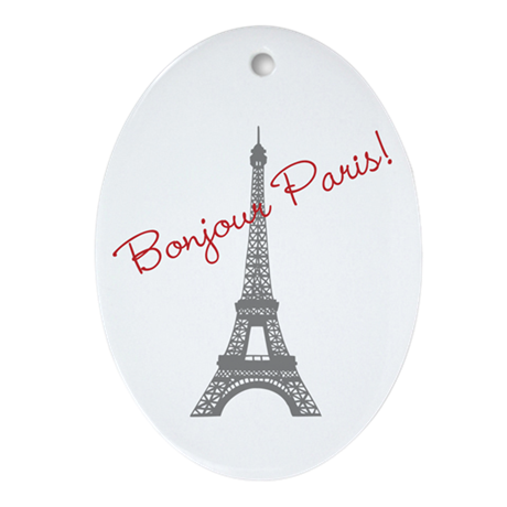 Eiffel Tower Ornament (Oval)