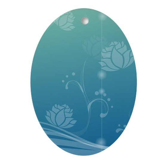 Lotus Ornament (Oval)