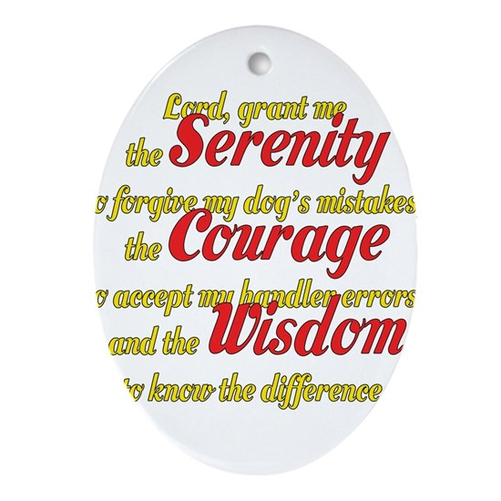 Dog Agility Serenity Prayer